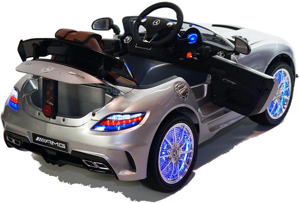 sls amg cabriolet elektro kinderauto kinderfahrzeug kinder elektroauto silber ebay. Black Bedroom Furniture Sets. Home Design Ideas