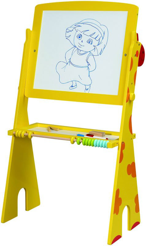 tafel kindertafel standtafel schreibtafel maltafel magnettafel giraffe m ablage ebay. Black Bedroom Furniture Sets. Home Design Ideas