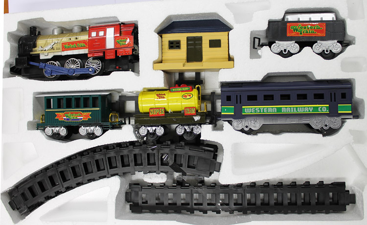union express elektrische eisenbahn lok train set 5 8m bahnstrecke neu. Black Bedroom Furniture Sets. Home Design Ideas