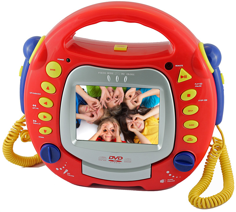 kinder karaoke dvd mp3 divx cd player mit 5 lcd display fernbedienung tragbar ebay. Black Bedroom Furniture Sets. Home Design Ideas