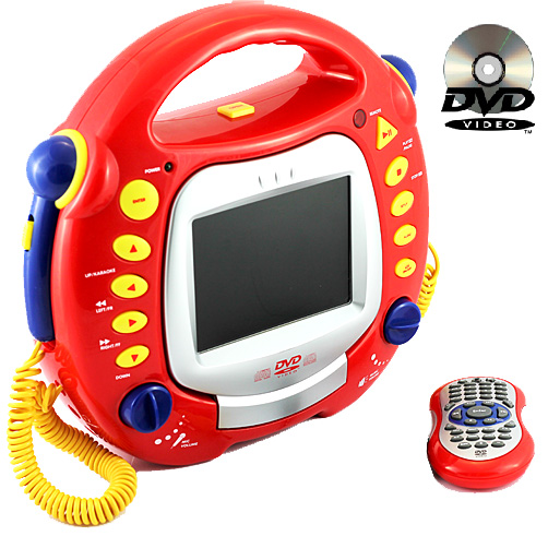 kinder karaoke dvd mp3 divx cd player mit 5 034 lcd display fernbedienung tragbar ebay. Black Bedroom Furniture Sets. Home Design Ideas