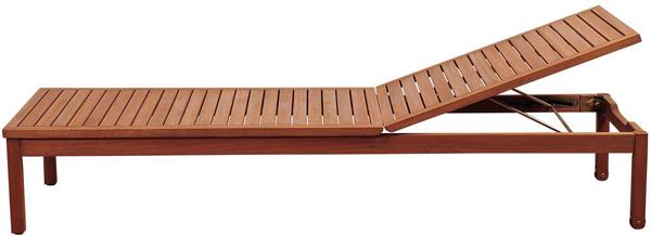 holzliege gartenliege sonnenliege relaxliege liegestuhl eukaliyptus mit rollen ebay. Black Bedroom Furniture Sets. Home Design Ideas