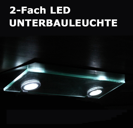 2f led unterbauleuchte unterbaulampe k chenlampe k chenlicht k chenleuchte lampe ebay. Black Bedroom Furniture Sets. Home Design Ideas