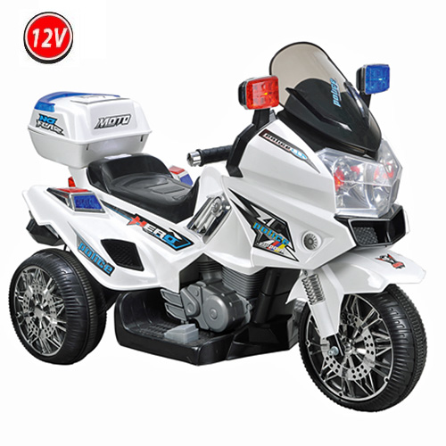 12v polizei elektro motorrad kindermotorrad roller. Black Bedroom Furniture Sets. Home Design Ideas