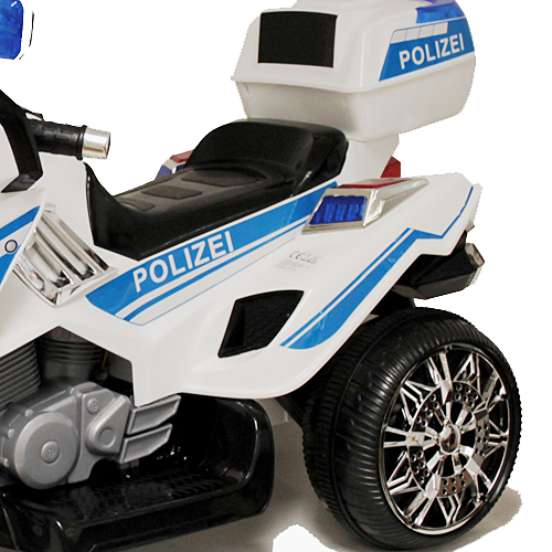 polizei sticker in deutsch elektro motorrad kindermotorrad. Black Bedroom Furniture Sets. Home Design Ideas