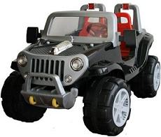 crooza 12V Elektro Kinderauto Kinderfahrzeug Kinder Elektroauto Monster Jeep 2 starke Motoren 2 gänge gross